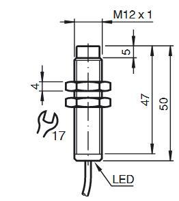 电感式传感器 NBN4-12GM50-E2-12M
