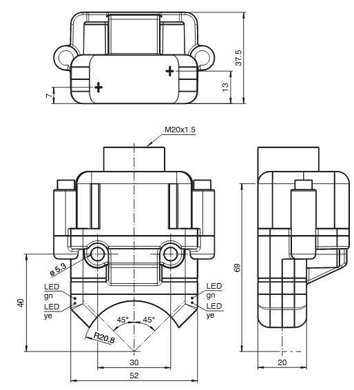 电感式传感器 NBN4-F25K-E8